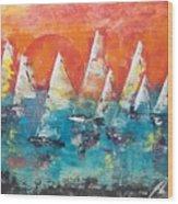 Tropic Sails Wood Print