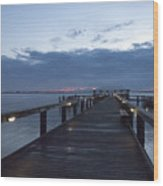 Tropic Twilight On The Indian River Wood Print
