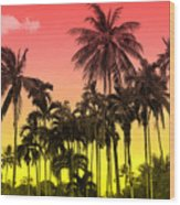 Tropical 9 Wood Print