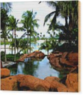 Tropical Atlantis Wood Print