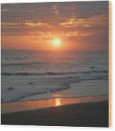 Tropical Bali Sunset Wood Print