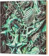 Tropical Bay Elements Wood Print