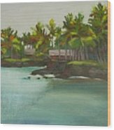 Tropical Bay Wood Print