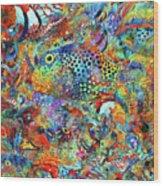 Tropical Beach Art - Under The Sea - Sharon Cummings Wood Print