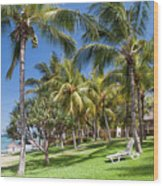 Tropical Beach I. Mauritius Wood Print