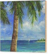 Tropical Beach One Wood Print