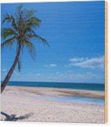 Tropical Blue Skies And White Sand Beaches Wood Print