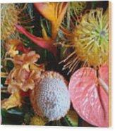 Tropical Bouquet Wood Print