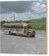 Tropical Bus Wood Print
