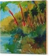 Tropical Canal Wood Print