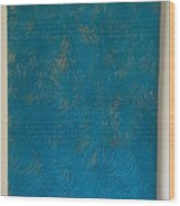 Tropical Palms Canvas Teal Blue - 16x20 Hand Painted Wood Print