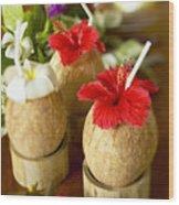Tropical Cocktail Wood Print