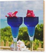 Tropical Cocktails Wood Print