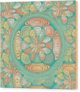 Tropical Color Abstract Wood Print