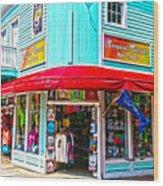 Tropical Corner Key West Florida Wood Print