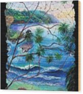 Tropical Cove  Fresco Triptych 2 Wood Print