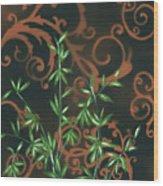 Tropical Dance 2 By Madart Wood Print