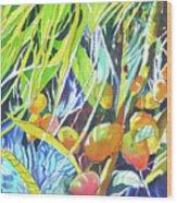 Tropical Design 1 Wood Print