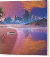 Tropical Dream Island Beach Wood Print