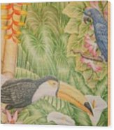 Tropical Dream Wood Print