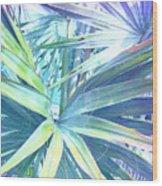 Tropical Dreams In Pastel Purple-blue Wood Print