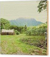 Tropical Farm Wood Print