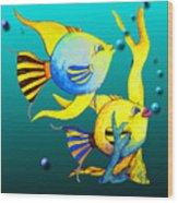 Tropical Fish Fun Wood Print
