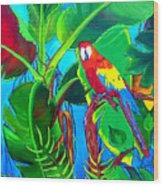 Tropical Flame Wood Print