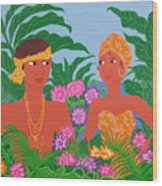 Tropical Flirtation Wood Print