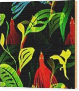 Tropical Flock Wood Print