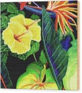 Tropical Flower Arrangement #251 Wood Print