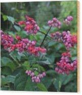 Tropical Flower Flow Wood Print