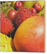 Tropical Fruit Delight Wood Print