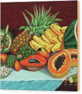 Tropical  Fruits Wood Print
