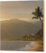 Tropical Hawaiian Paradise Wood Print