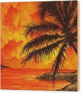 Tropical Heat Wood Print