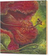 Tropical Hibiscus Wood Print