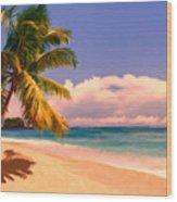 Tropical Island 6 - Painterly Wood Print