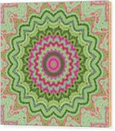 Tropical Kaleidoscope Wood Print