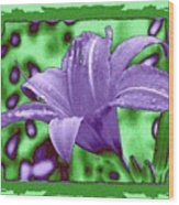 Tropical Lily 4 Wood Print