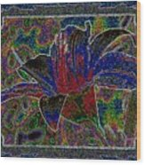 Tropical Lily 5 Wood Print
