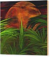 Tropical Moon Wood Print