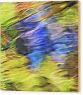 Tropical Mosaic Abstract Art Wood Print