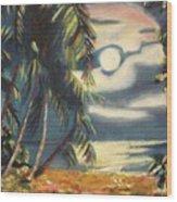 Tropical Nights Wood Print