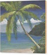 Tropical Palm Wood Print