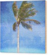 Tropical Palm Tree Wood Print