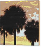 Tropical Palms Work Number Four Wood Print