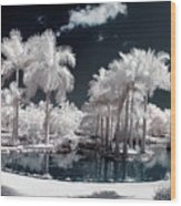 Tropical Paradise Infrared Wood Print