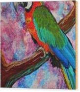 Tropical Parrot Wood Print