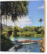 Tropical Plantation - Maui Wood Print